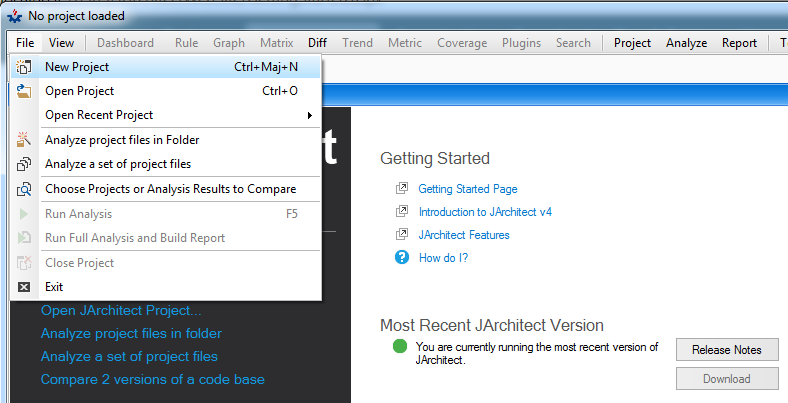 Getting Started with JArchitect